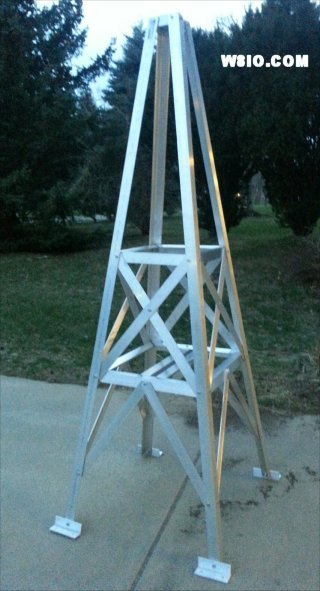 W8IO 8 foot very heavy duty roof tower